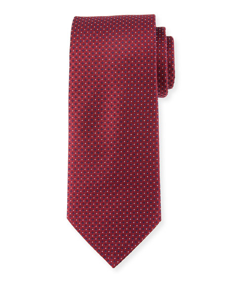 Eton Mini Coffee Bean Silk Tie, Burgundy