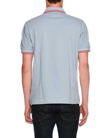 Contrast-Tip Classic Polo Shirt