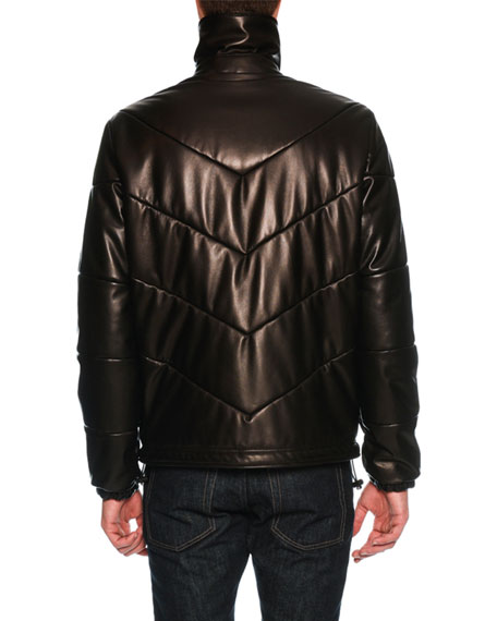 Napa Leather Puffer Jacket
