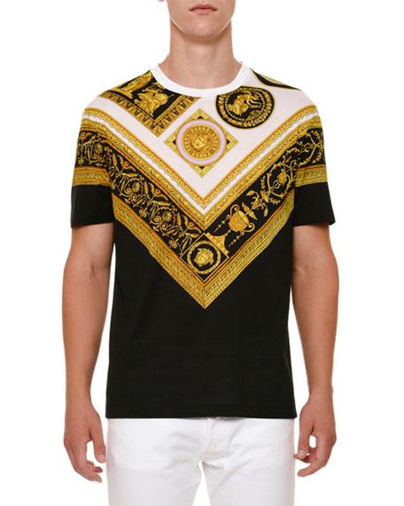 Versace Frames-Print Crewneck T-Shirt
