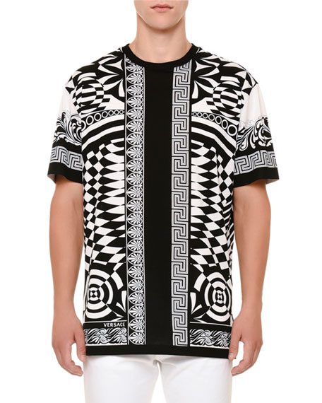 Versace Optical Illusion-Graphic T-Shirt