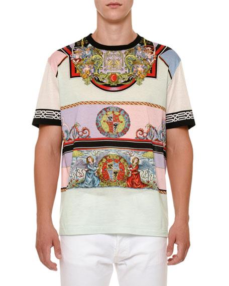 Angels-Print Jersey T-Shirt