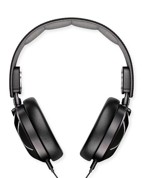 Leather Over-Ear Headphones, Black
