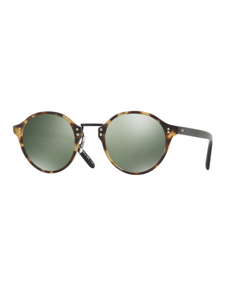 Oliver Peoples 30th Anniversary Round Sunglasses, Semi-Matte