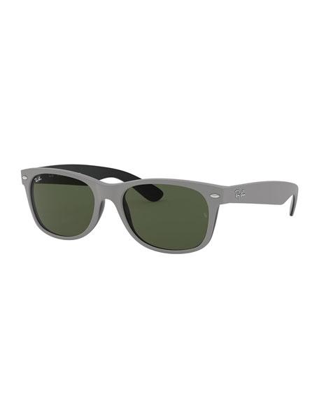 Ray-Ban Men's New Wayfarer 58mm Flat-Top Plastic Sunglasses