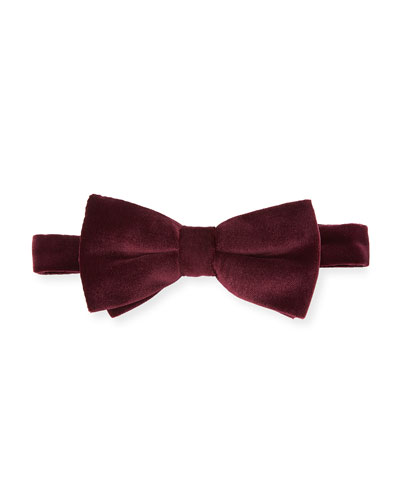 Velvet Pre-Tied Bow Tie