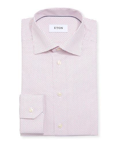 Micro Star Cotton Dress Shirt