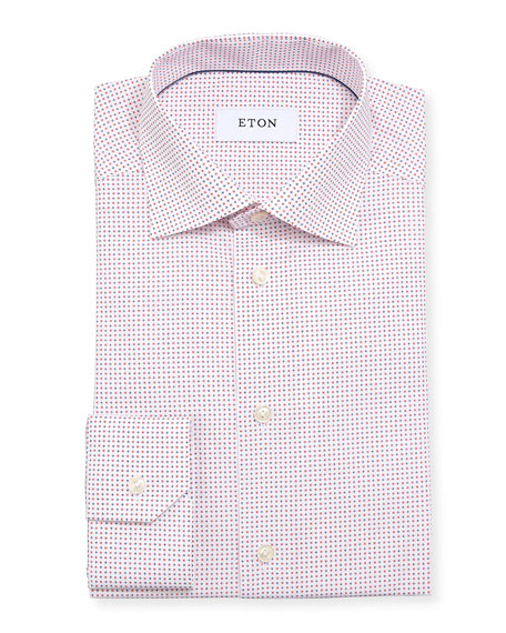 Eton Micro Star Cotton Dress Shirt