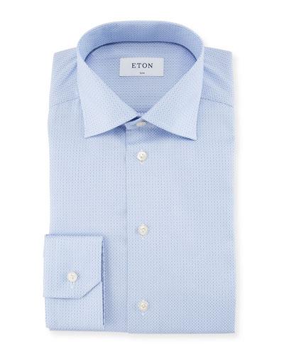 Diamond Jacquard Dress Shirt