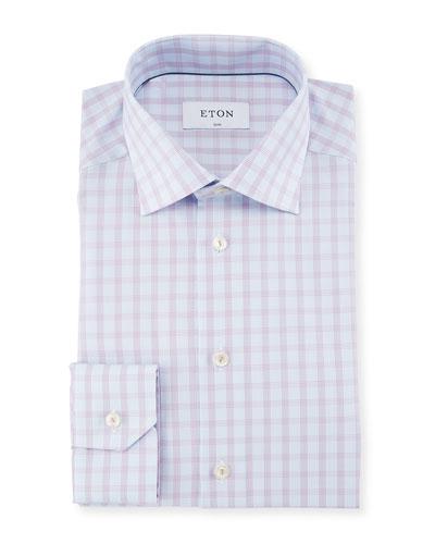 Tattersall Check Cotton Dress Shirt