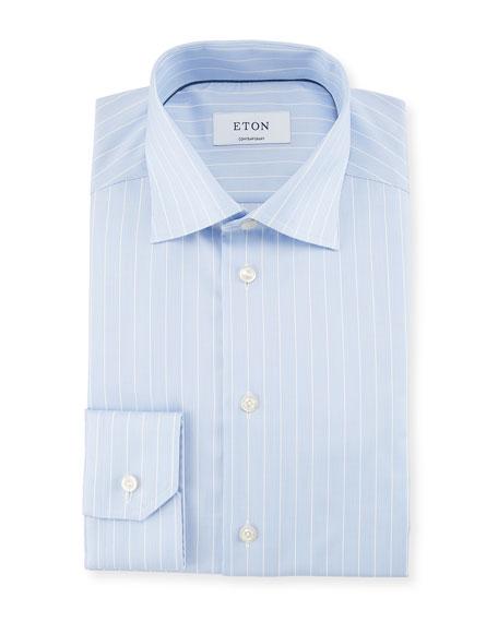 Striped Cotton Dress Shirt