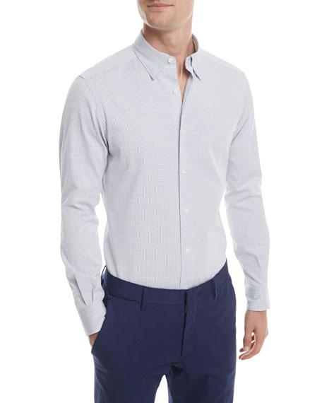 Ermenegildo Zegna Seersucker Check Sport Shirt