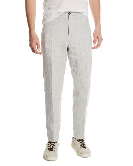 Ermenegildo Zegna Drawstring-Waist Linen Pants