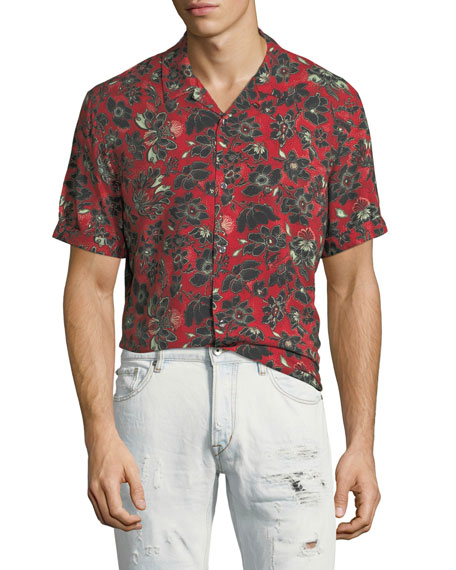 Bandana-Print Short-Sleeve Shirt