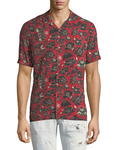 Bandana-Print Short-Sleeve Shirt