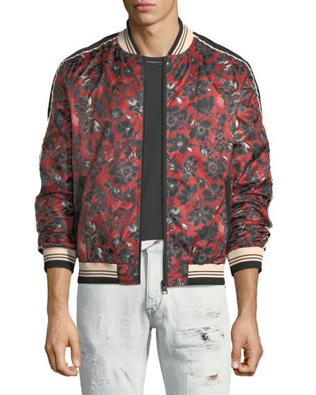 Bandana-Print Bomber Jacket