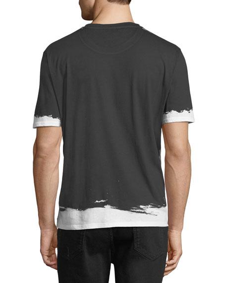 Painted-Trim Cotton T-Shirt