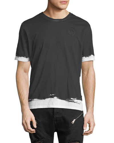 Painted-Trim Cotton T-Shirt