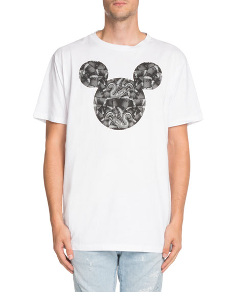 Marcelo Burlon Snake-Print Mickey Mouse-Graphic T-Shirt