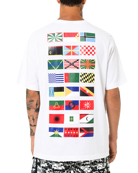 Flags Short-Sleeve T-Shirt, White