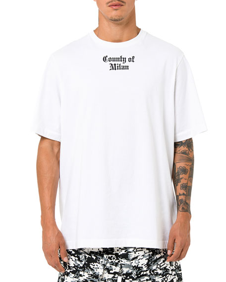 Marcelo Burlon Flags Short-Sleeve T-Shirt, White