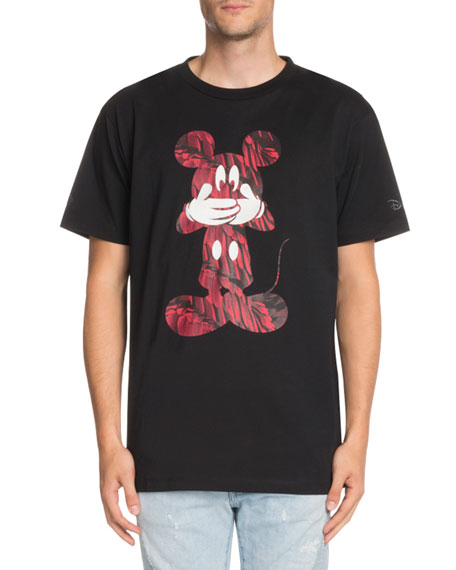 Marcelo Burlon Contrast Mickey Mouse-Graphic T-Shirt