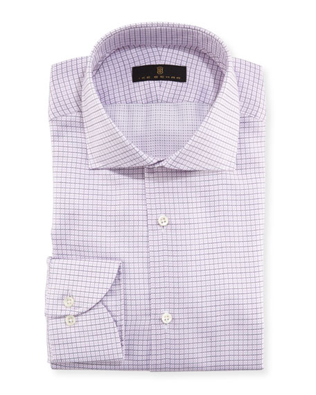 Mini Grid Textured Dress Shirt