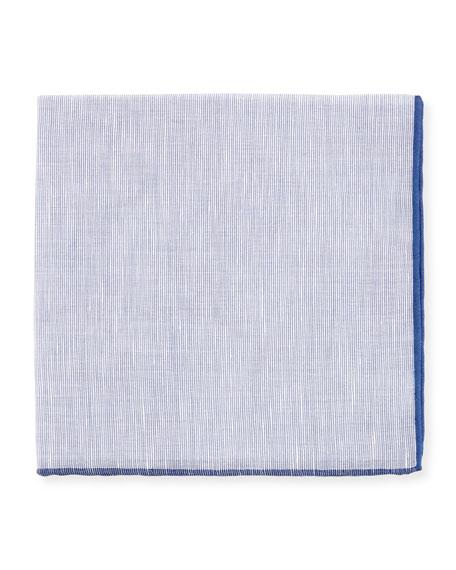 Contrast-Trim Pocket Square