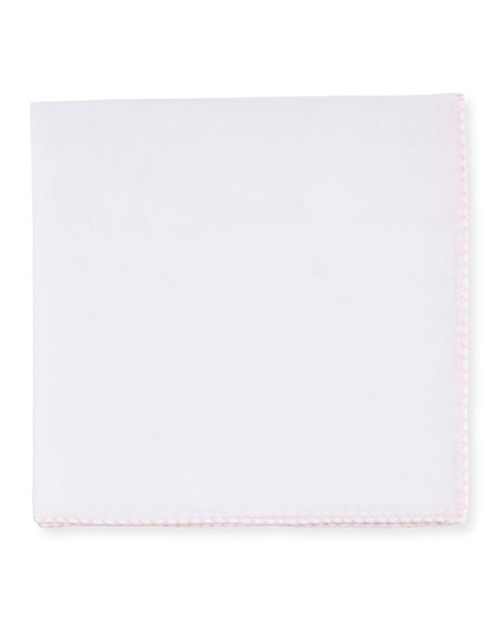 Cross-Stitched Trim Pocket Square