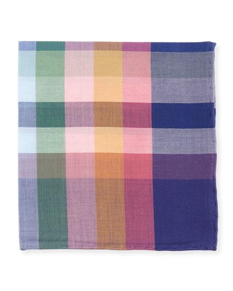 Madras Plaid Cotton Pocket Square