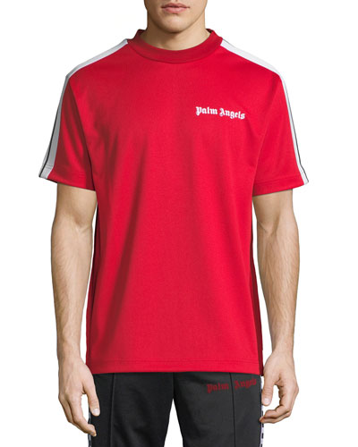 Embroidered-Logo Track T-Shirt
