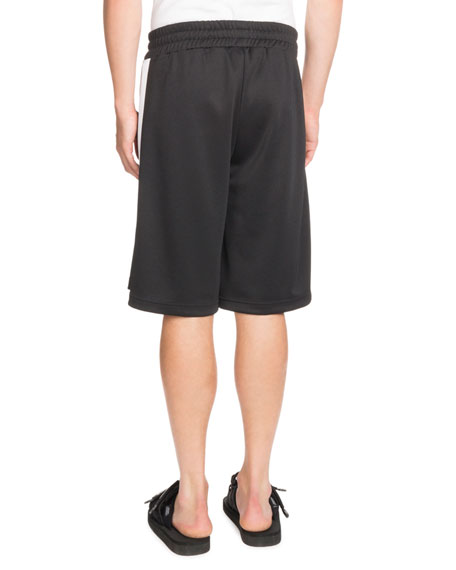 Contrast-Trim Track Shorts