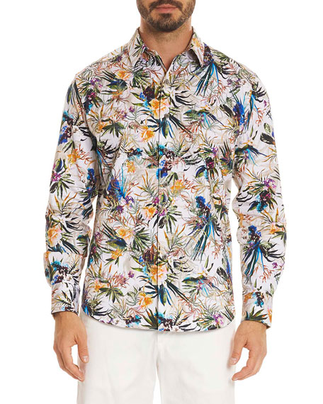 Robert Graham Botanics Long-Sleeve Sport Shirt