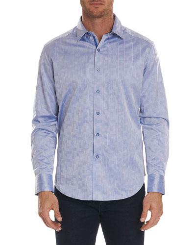 Flores Tonal-Jacquard Sport Shirt