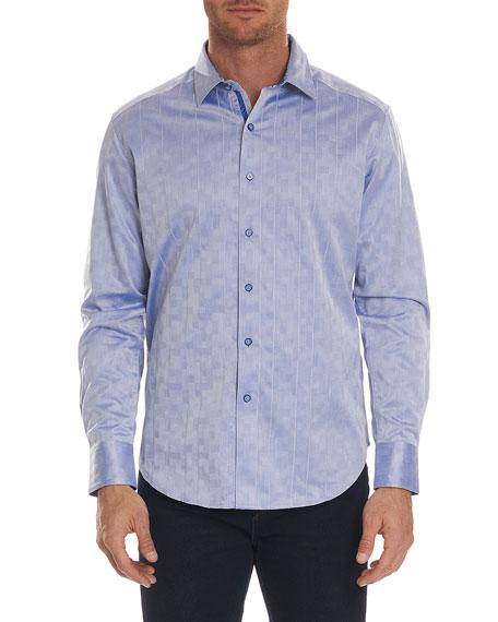 Robert Graham Flores Tonal-Jacquard Sport Shirt