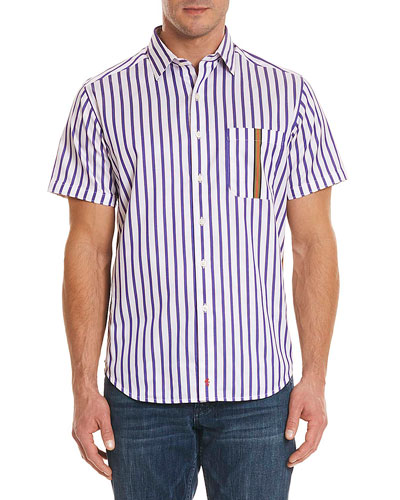 Venero Striped Short-Sleeve Sport Shirt