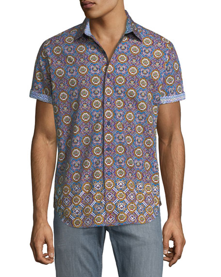 Robert Graham Buena Vista Short-Sleeve Sport Shirt