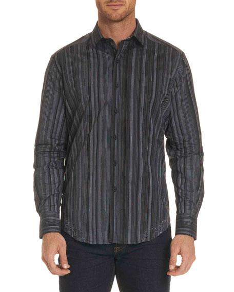 Robert Graham Lopez Striped Long-Sleeve Sport Shirt