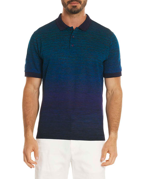 Catalan Ombré-Stripe Polo Shirt