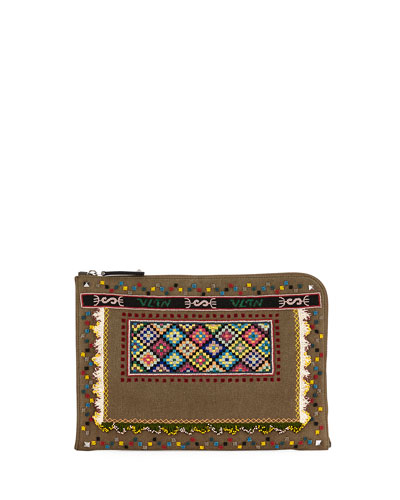CROSS BODY BEADED