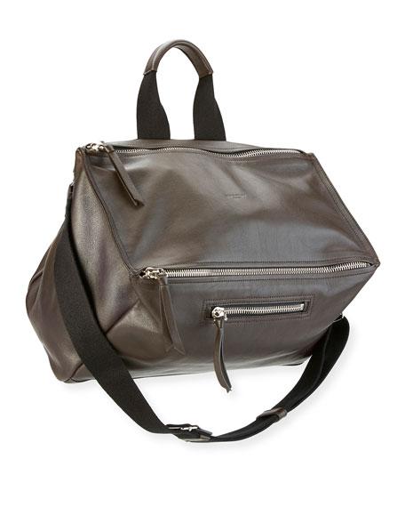 Men's Aviator Leather Messenger Bag