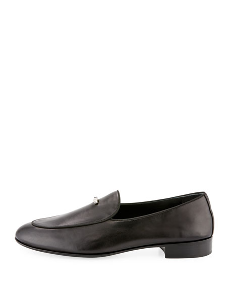 Men's Mini-Bow Tie Leather Loafer
