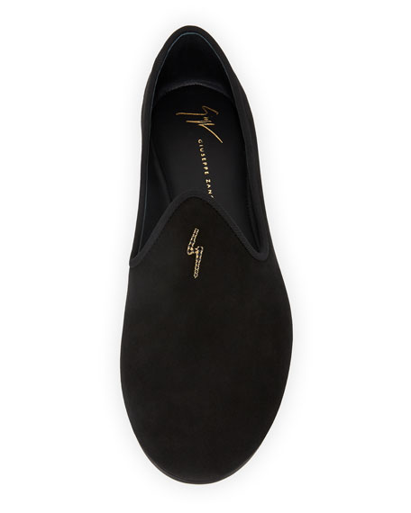 Men's Suede Loafer with Signature G-Logo