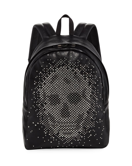 Men's Small Skull-Studded Backpack