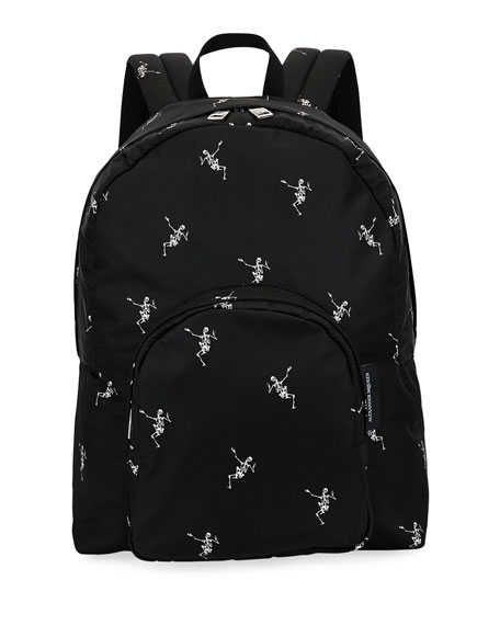 Alexander McQueen Men's Small Skeleton-Print Backpack