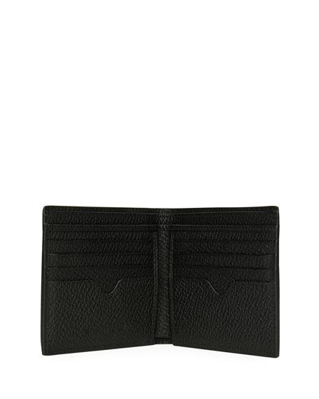 Skeleton-Print Bi-Fold Leather Wallet