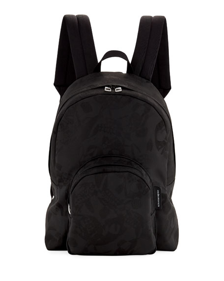 Alexander McQueen Men's Small Jacquard Backpack