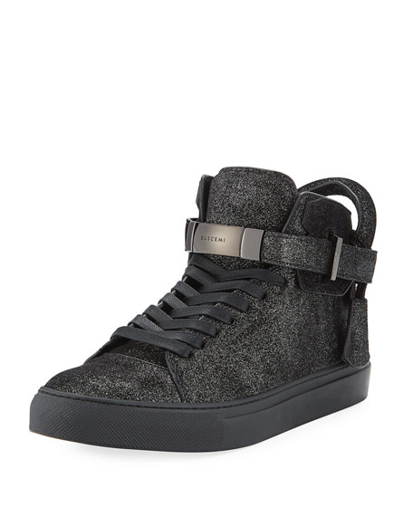 Buscemi Men's 100mm Gleam High-Top Sneakers