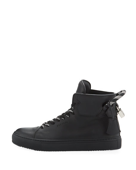 Men's 125mm Corda Leather High Top Sneakers