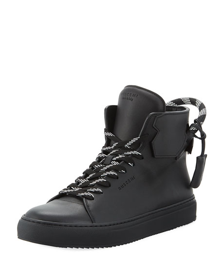 Buscemi Men's 125mm Corda Leather High Top Sneakers